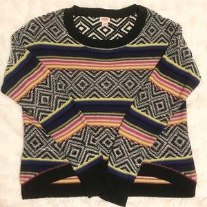 Mossimo Tribal Print Multi Crew Nck Sweater, SZ XL